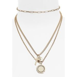 Topshop multi-row charm necklace